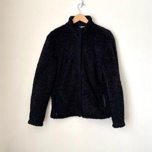 MEC Black Teddy Zip Up Coat